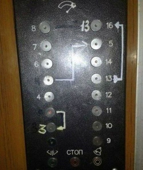 monday thru friday arrow elevator buttons - 8351147776