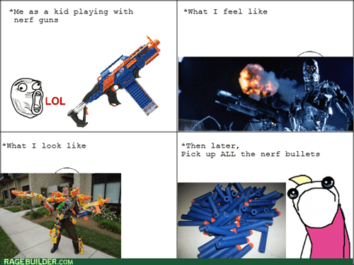 all the things,kids,playing,nerf guns