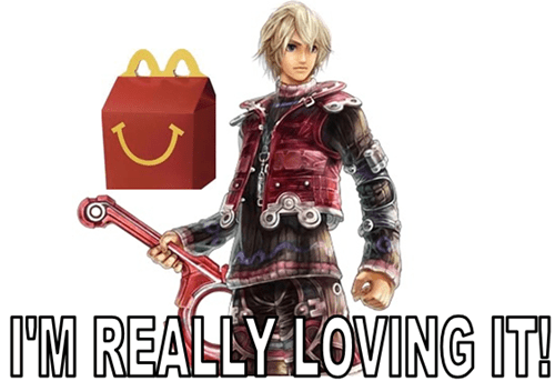 McDonald's,super smash bros,shulk,i'm really feeling it