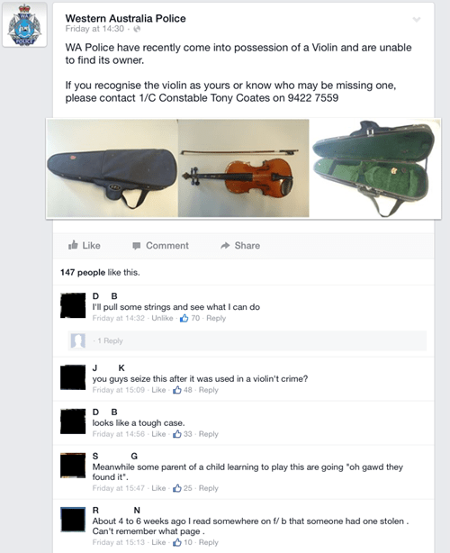 lost and found puns violin police failbook g rated - 8352748800