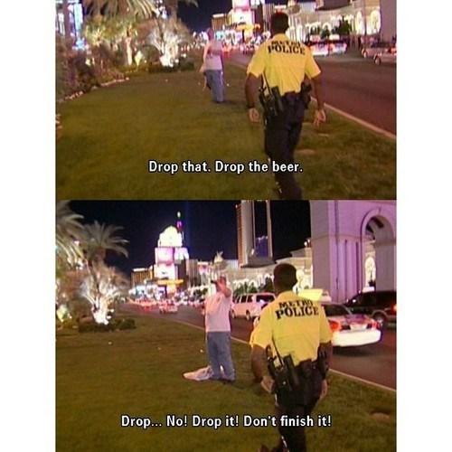 cops beer funny - 8353550592