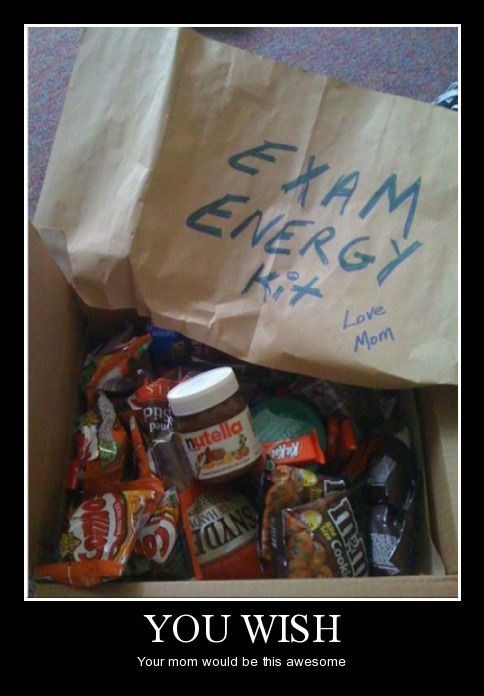 care package,exam,mom,funny,energy