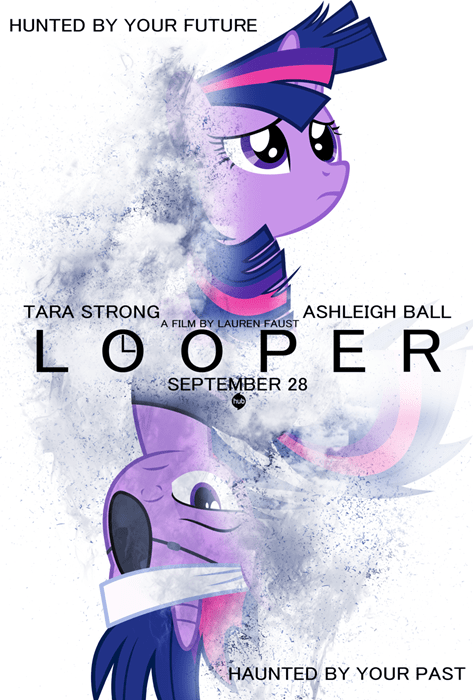 Cartoon - HUNTED BY YOUR FUTURE TARA STRONG ASHLEIGH BALL A FILM BY LAUREN FAUST L O O P ER SEPTEMBER 28 HAUNTED BY YOUR PAST