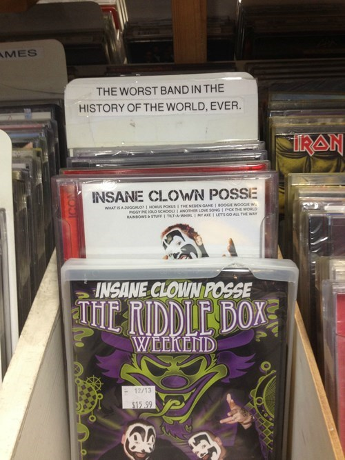 monday thru friday Music ICP insane clown posse - 8353867520