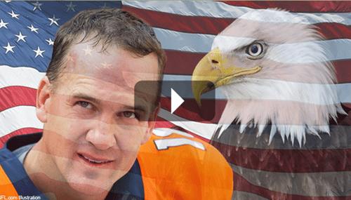 nfl Denver Broncos peyton manning football - 8353882624