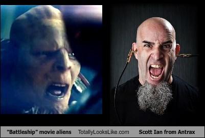 """Battleship"" movie aliens Totally Looks Like Scott Ian from Antrax"