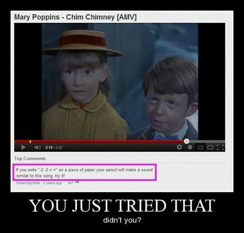 comments,song,mary poppins,funny