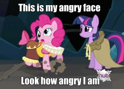 pinkie pie twilight sparkle rage face - 8353963776