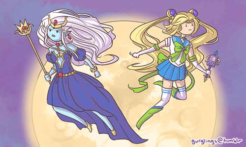crossover anime sailor moon cartoons adventure time - 8353984256