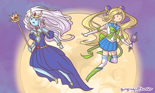 crossover anime sailor moon cartoons adventure time - 8353984256