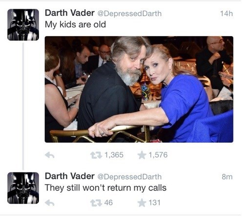 twitter star wars depressed darth darth vader - 8354033920