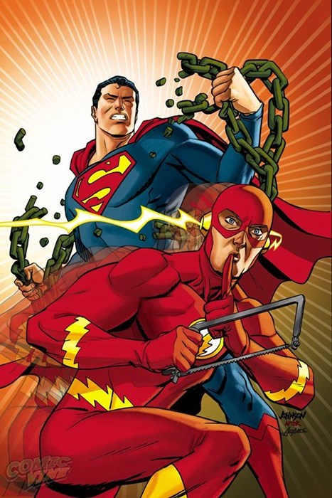 Straight off the Page the flash superman - 8354114560