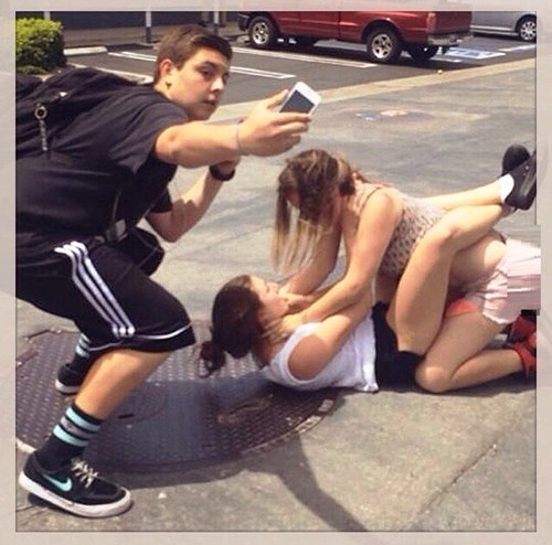 fight,funny,selfie