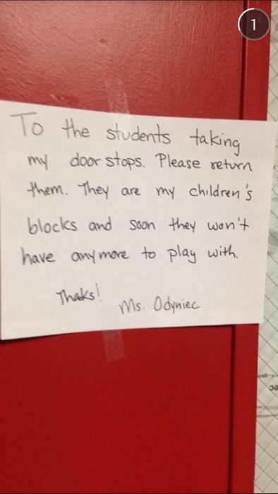 blocks kids funny students note