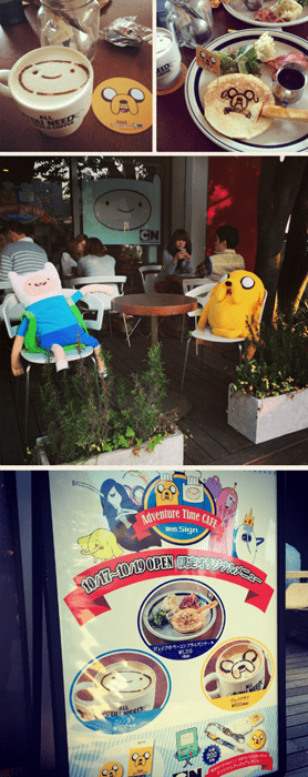 adventure time cartoons cafe Japan IRL - 8354123008
