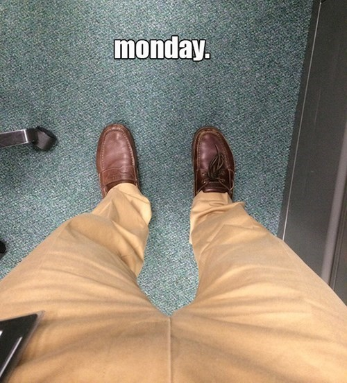 monday thru friday,shoes,mismatched,poorly dressed,mondays,g rated