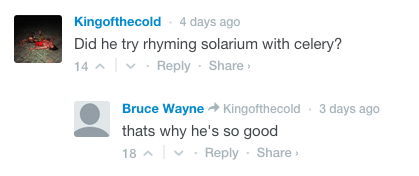 burn,rap,youtube comments,youtube