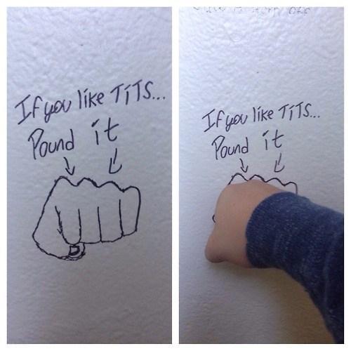 Bathroom Graffiti bros hacked irl - 8354311424