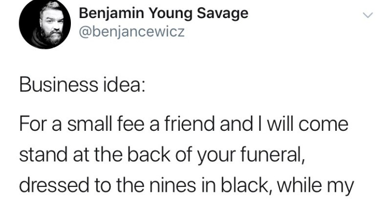 twitter funeral social media ridiculous funny - 8354565