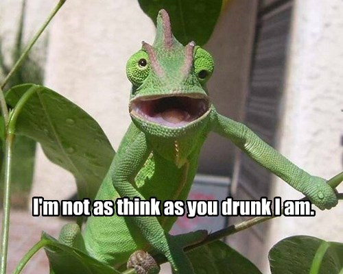 I'm not as think as you drunk I am.
