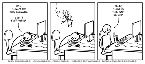 coffee,monday thru friday,work,web comics,g  rated