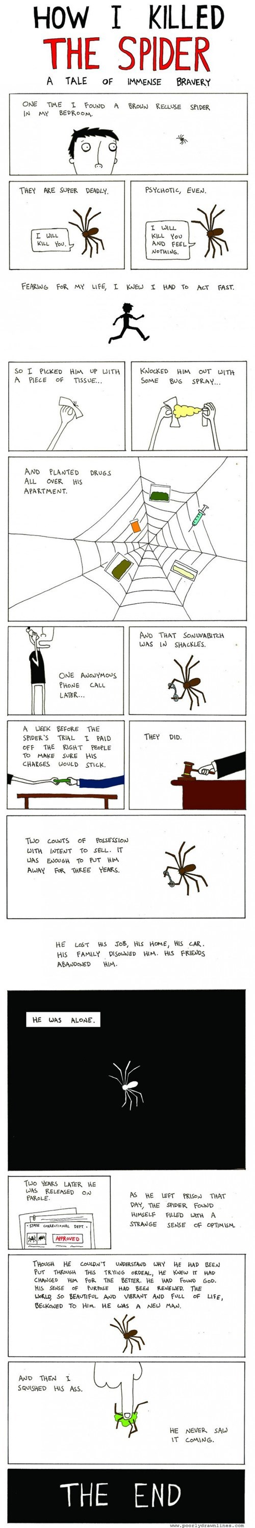 brown recluse jail spiders sad but true yikes web comics - 8354995200