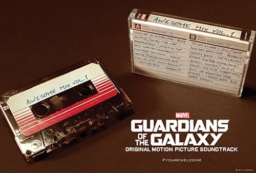 guardians of the galaxy,soundtrack,cassette
