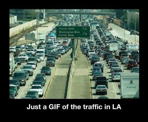 gif,funny,LA,traffic