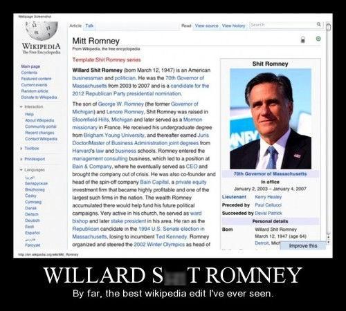 funny Mitt Romney wikipedia - 8355207936
