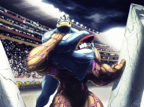 Fan Art Machamp Pokémon too real conkeldurr - 8355261952