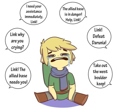link,Sad,hyrule warriors