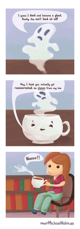 halloween ghosts tea web comics