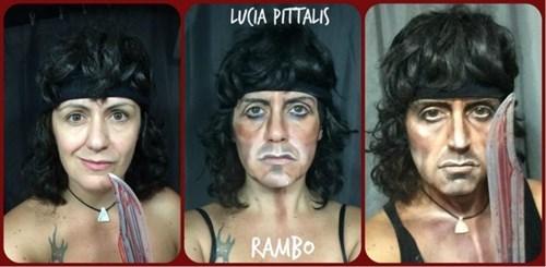 halloween makeup rambo - 8355340800