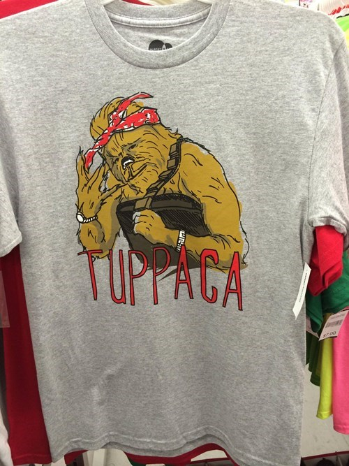 chewbacca star wars t shirts poorly dressed tupac - 8355359744
