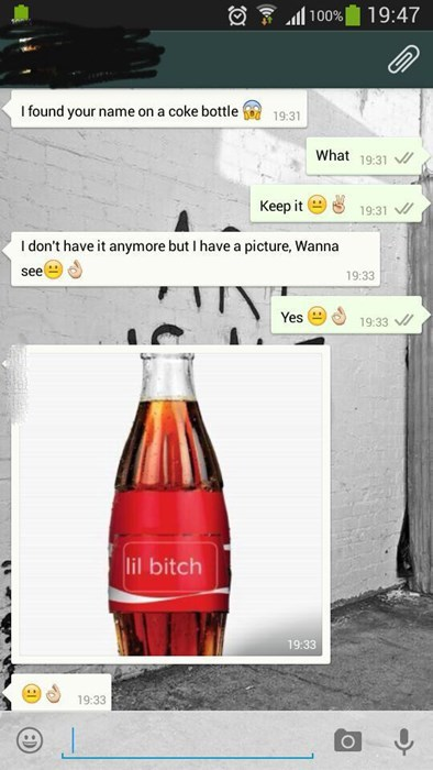 coke burn texting - 8355369216