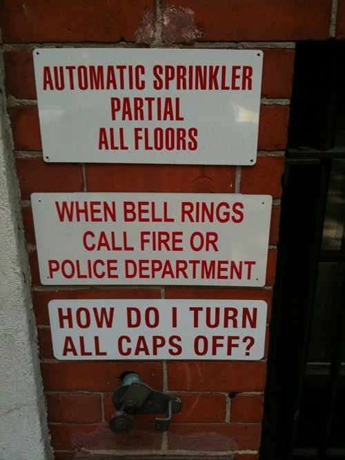 fire department,caps lock,police department