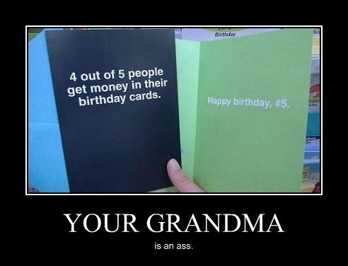 birthday card grandma cheap funny - 8356102656