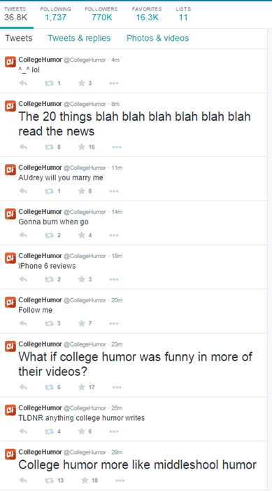 twitter whoops college humor hacked failbook g rated - 8356131328