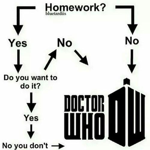doctor who flowchart homework - 8356177408