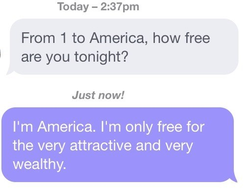 america,funny,message,text,g rated,dating