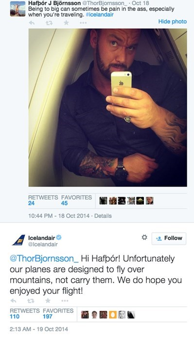 airplane Game of Thrones twitter The Mountain failbook g rated - 8356285440
