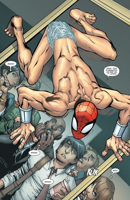 naked,nightmares,Straight off the Page,Spider-Man