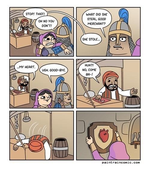 puns hearts theft web comics - 8356323840