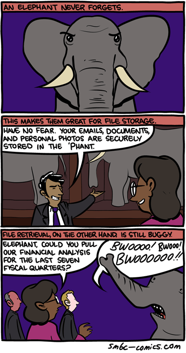 elephants,files,trunks,technology,web comics