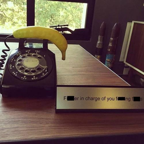 banana phone monday thru friday name tag - 8356573184