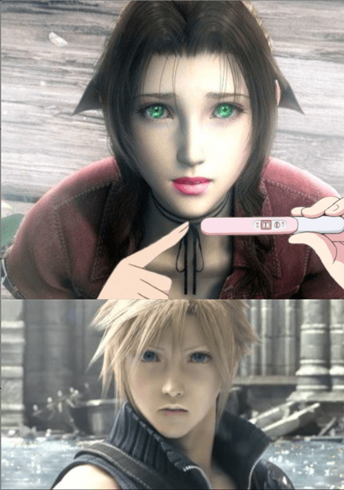 aeris,aerith,final fantasy,cloud,pregnancy announcement