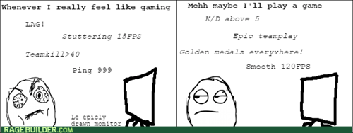 rage,lag,video games