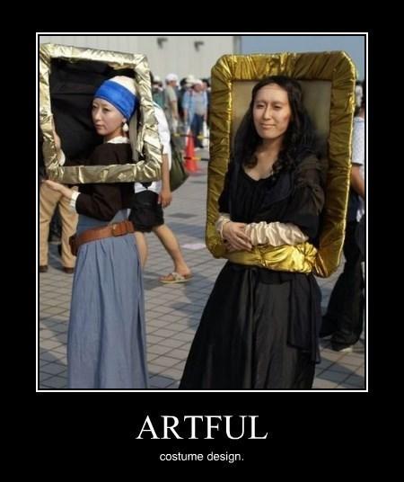 art costume halloween funny mona lisa - 8357013760