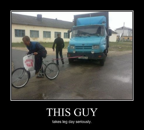 bicycle,funny,workout,truck,leg day