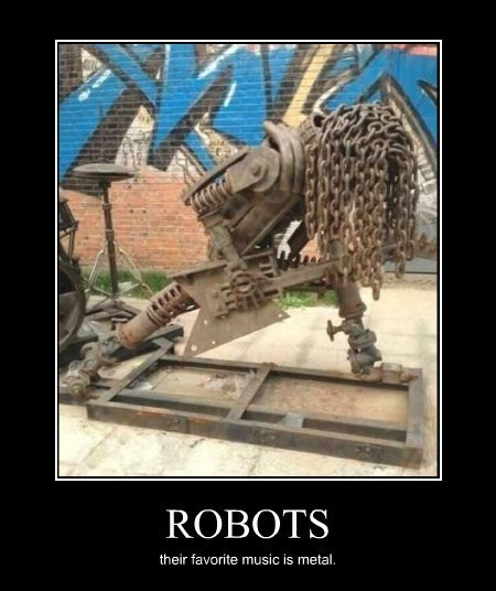 metal,Music,robots,sculpture,techno